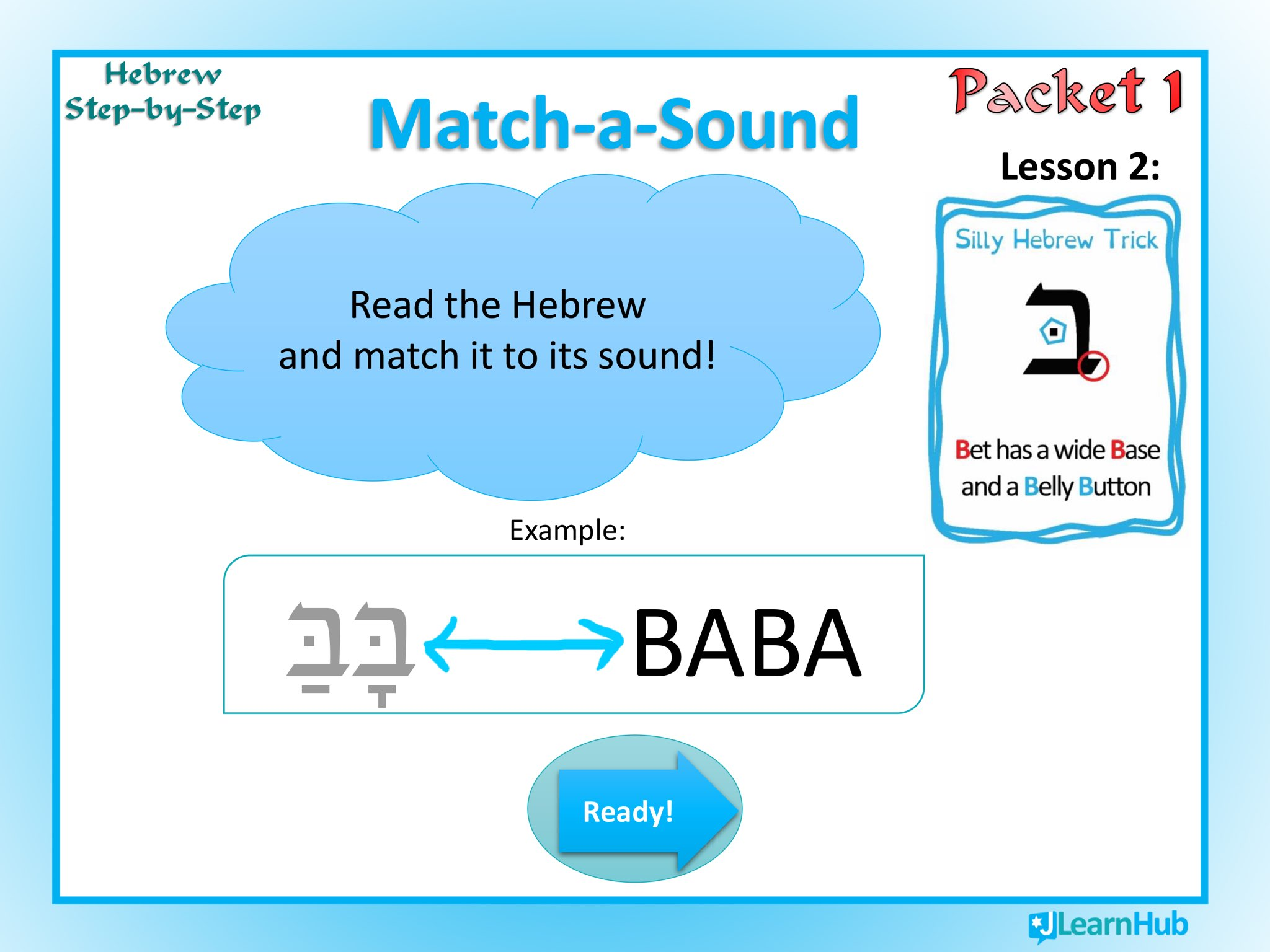 HSBS Lesson 2: בּ Match-A-Sound by Rae Antonoff